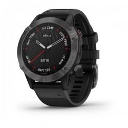 fēnix® 6 Sapphire Carbon Gray DLC z czarnym paskiem