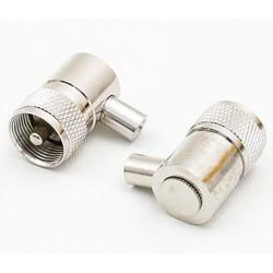 Wtyk kątowy UHF/PL259 kabel RG58-5,4mm